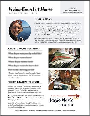 Vision Board at Home Free Printable